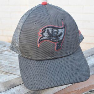 NFL Baseball Cap Hat Tampa Bay Buccaneers Gray Red